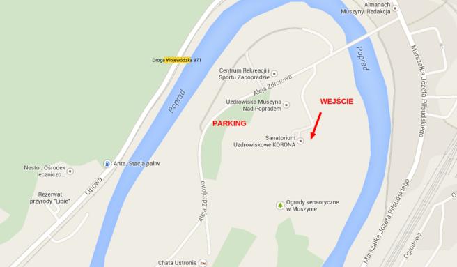 Muszyna – Mapy Google