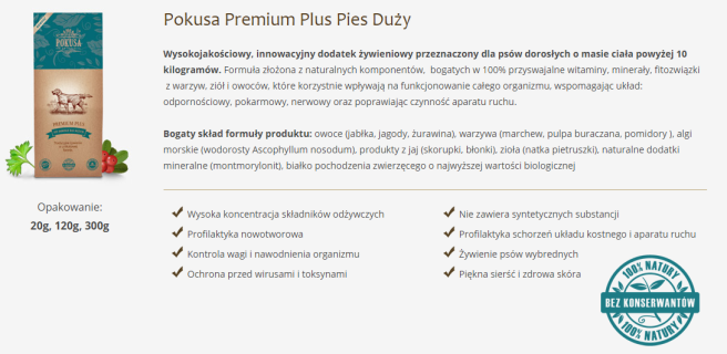Pokusa Premium Plus Pies Duży   Pokusa 1