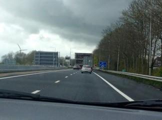 Zwodzony most na autostradzie